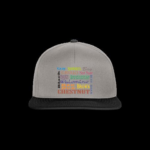 Quarter Horse Farben - Snapback Cap