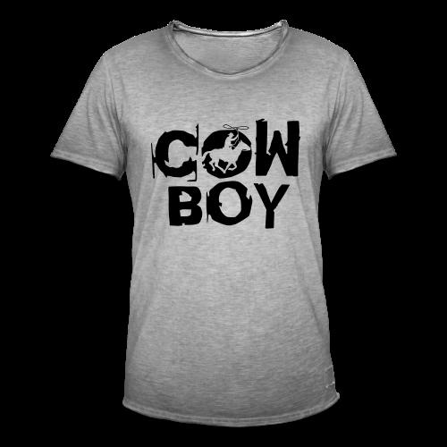 Cowboy - Männer Vintage T-Shirt