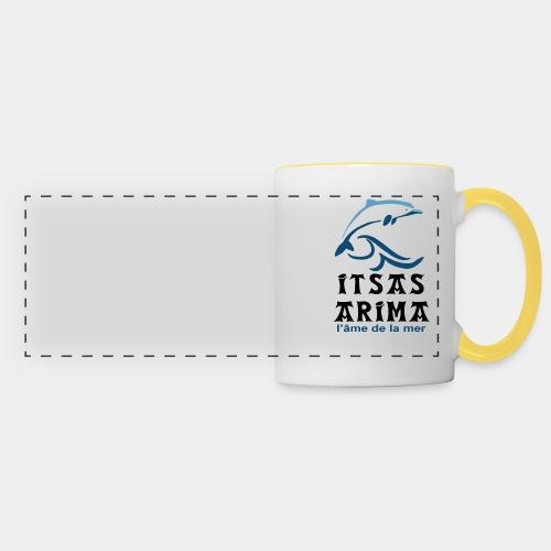 Logo Itsas Arima - Mug panoramique contrasté et blanc