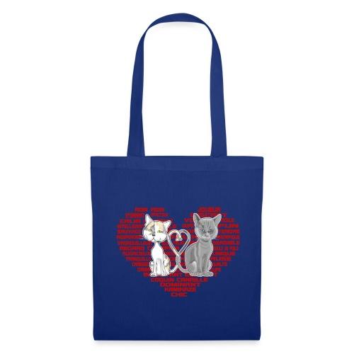 Cœur de chat (rouge) - Tote Bag