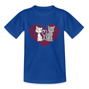 Cœur de chat (rouge) - T-shirt Enfant