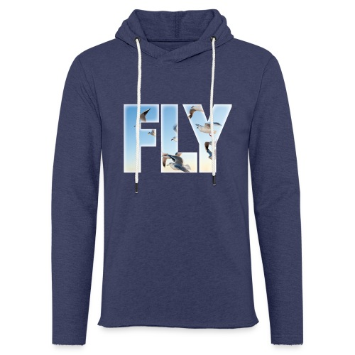 FLY 2 T-Shirts - Leichtes Kapuzensweatshirt Unisex