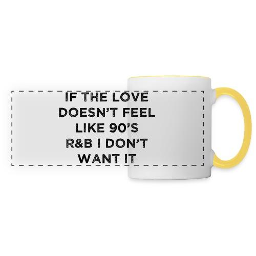 Love 90's - Mug panoramique contrasté et blanc