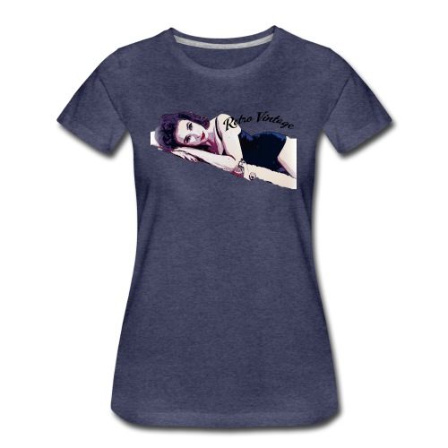 50's Perfume Pin Up Girl - Women's Premium T-Shirt