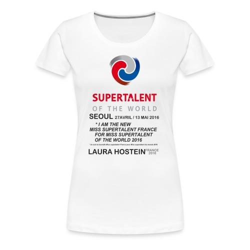 Tee shirt Bio Femme Miss Supertalent of the World - T-shirt Premium Femme