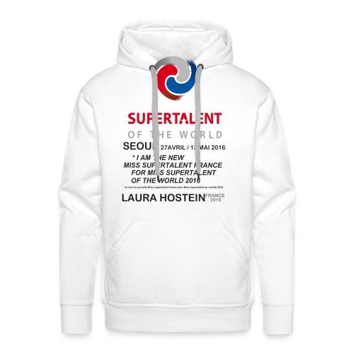 Tee shirt Bio Homme Miss Supertalent of the World - Sweat-shirt à capuche Premium pour hommes