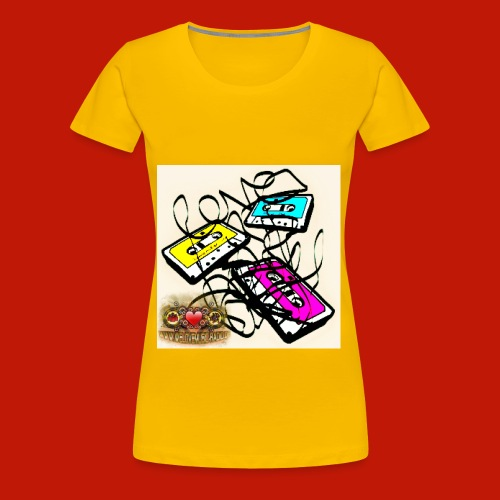 3 Kassetten WLM Top yellow - Frauen Premium T-Shirt