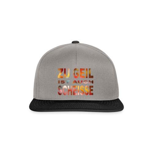 Zu Geil (bunt) - Snapback Cap