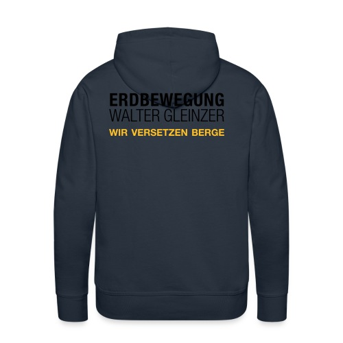 T-Shirt Rundhals | Navyblau - Männer Premium Hoodie