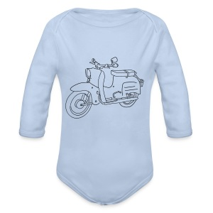 Scooter Simson Schwalbe Baby Bodysuits - Organic Longsleeve Baby Bodysuit