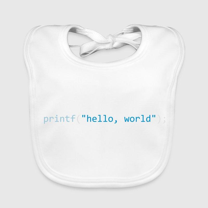 Hello, World Baby Lätzchen - Baby Bio-Lätzchen