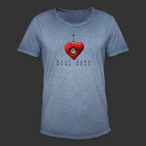 I love bouldern - Männer Vintage T-Shirt