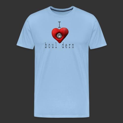I love bouldern - Männer Premium T-Shirt