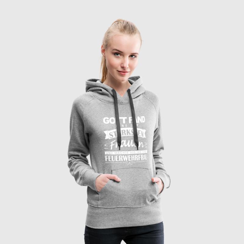 Gott fand Feuerwehrfrau Pullover & Hoodies - Frauen Premium Hoodie