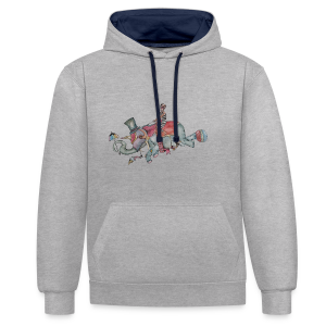 Elephant old school - Contrast Colour Hoodie