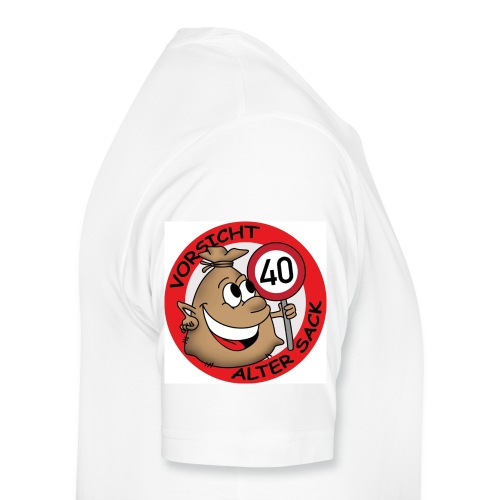 Geburtstagstasse Alter Sack 40 - Männer Premium T-Shirt