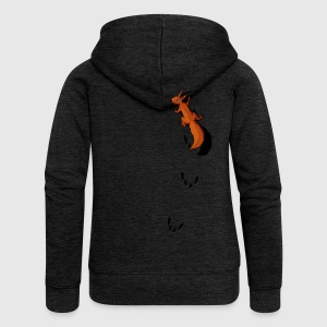 climbing Squirrel T-Shirts - Women's Premium Hooded Jacket