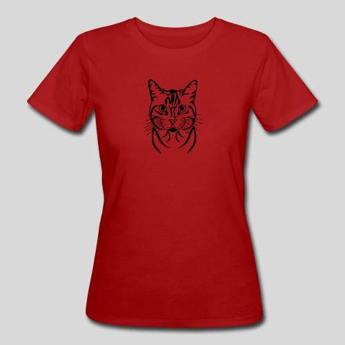 Katzenkopf - Frauen Bio-T-Shirt
