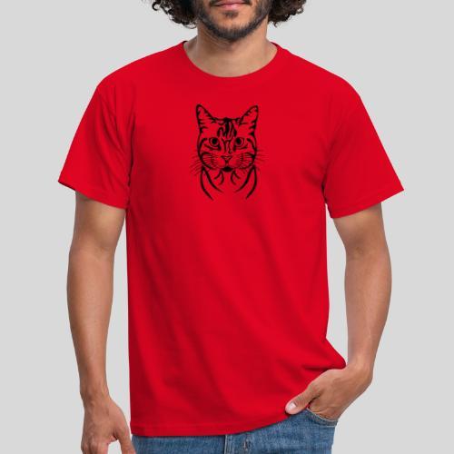 Katzenkopf - Männer T-Shirt