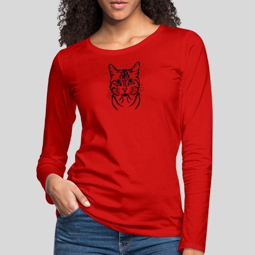 Katzenkopf - Frauen Premium Langarmshirt
