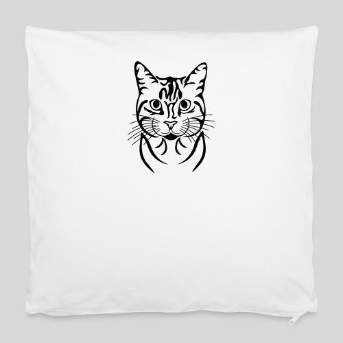 Katzenkopf - Kissenbezug 40 x 40 cm