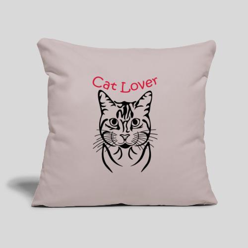 Katzenkopf/Cat Lover - Sofakissenbezug 44 x 44 cm