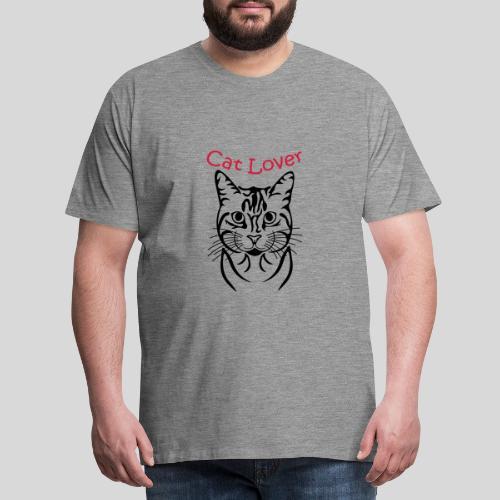 Katzenkopf/Cat Lover - Männer Premium T-Shirt