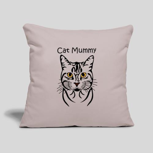 Katzenkopf/Cat Mummy - Sofakissenbezug 44 x 44 cm