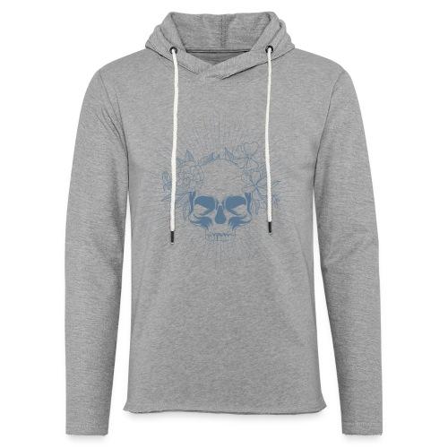 Crâne en fleur - Sweat-shirt à capuche léger unisexe