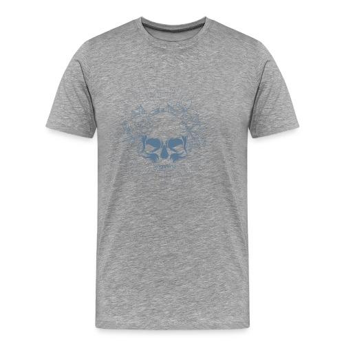 Crâne en fleur - T-shirt Premium Homme