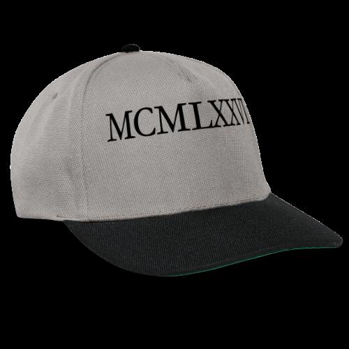 MCMLXXVI 1976 Geburtstag T-Shirt Römisch (Schwarz) - Snapback Cap