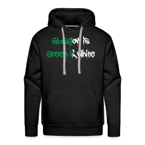 Glasgow is green and white - Men's Premium Hoodie