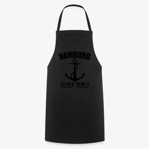 Hamburg Koordinaten Anker maritim Ahoi Frauen Shirt schwarz, blau - Kochschürze