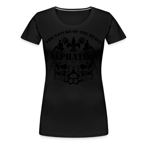alpahtier ~ the nature of the beast - Frauen Premium T-Shirt