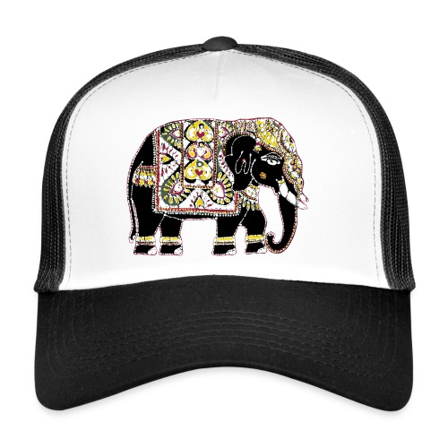 Decorated Indian elephant - Trucker Cap