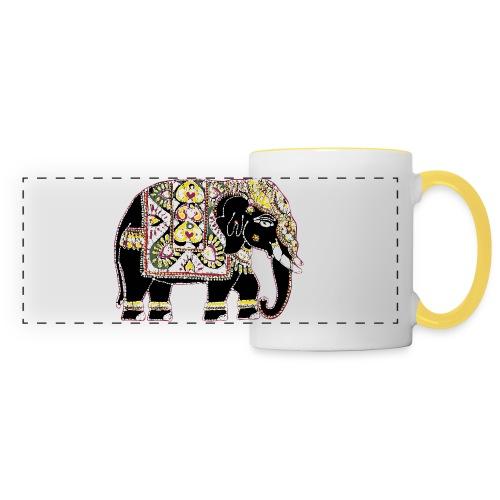 Decorated Indian elephant - Panoramic Mug