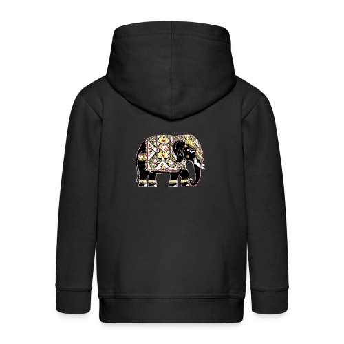 Decorated Indian elephant - Kids' Premium Zip Hoodie