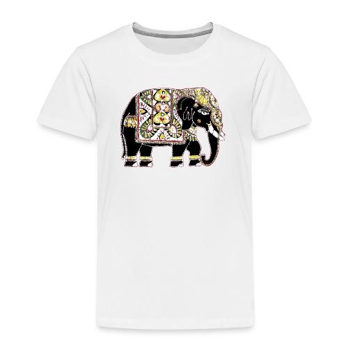 Decorated Indian elephant - Kids' Premium T-Shirt