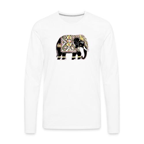 Decorated Indian elephant - Men's Premium Longsleeve Shirt