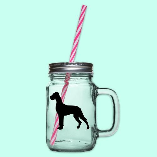 Doggenjacke Fleece - Henkelglas mit Schraubdeckel