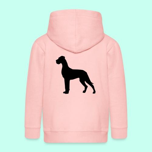 Doggenjacke Fleece - Kinder Premium Kapuzenjacke