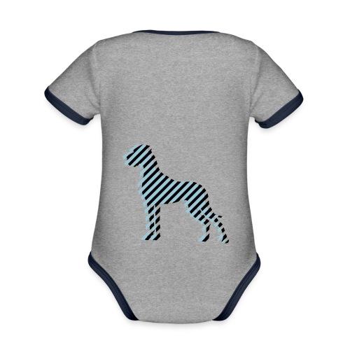 Doggenjacke Fleece - Baby Bio-Kurzarm-Kontrastbody