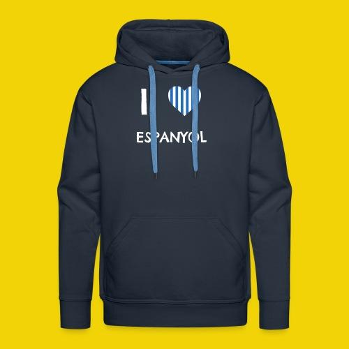 Male I Love Espanyol T-Shirt (On Navy Blue) - Men's Premium Hoodie
