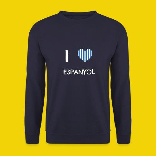 Male I Love Espanyol T-Shirt (On Navy Blue) - Men's Sweatshirt