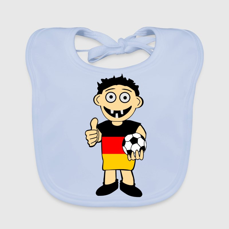 Deutscher Fussball junge - Baby Bio-Lätzchen