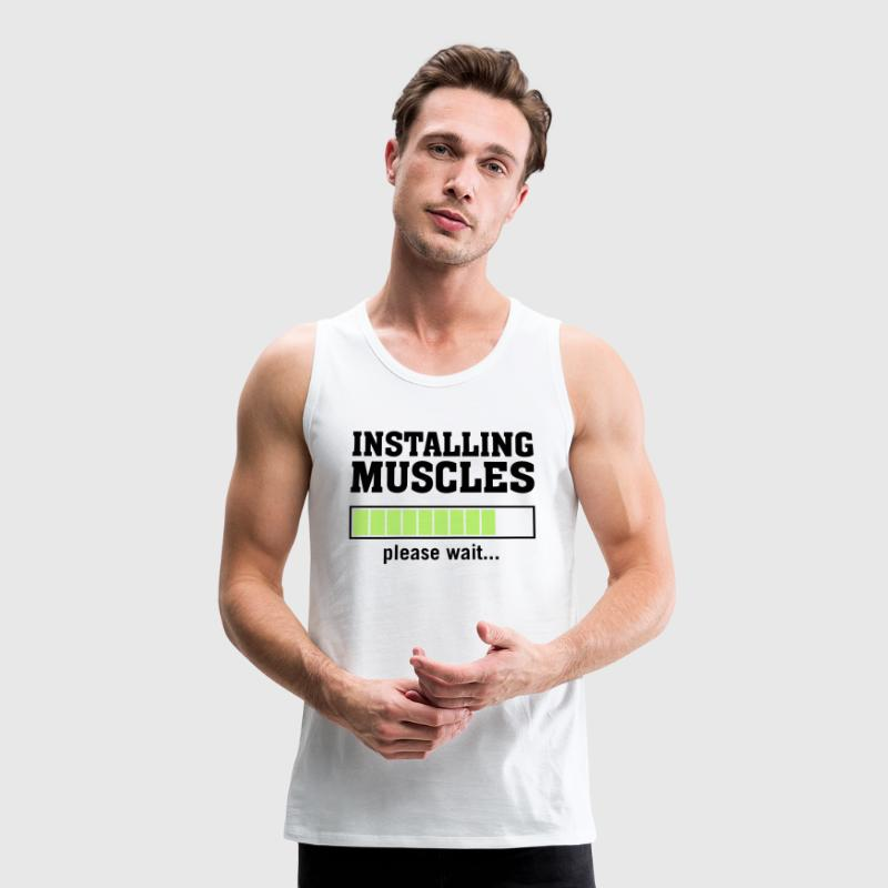 Installing Muscles (Please Wait) Ropa deportiva - Tank top premium hombre