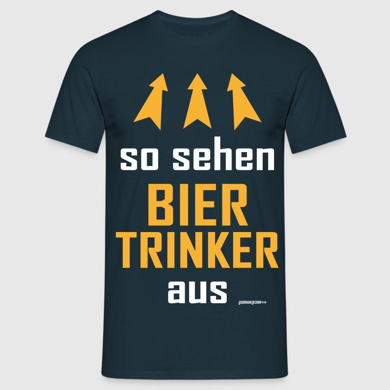 Biertrinker - Männer T-Shirt