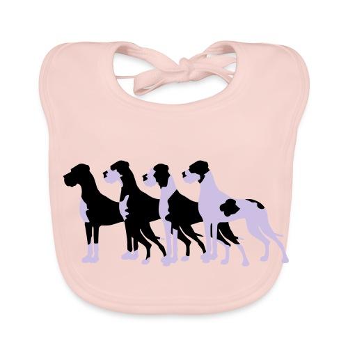 Gefleckte Doggen - Baby Bio-Lätzchen