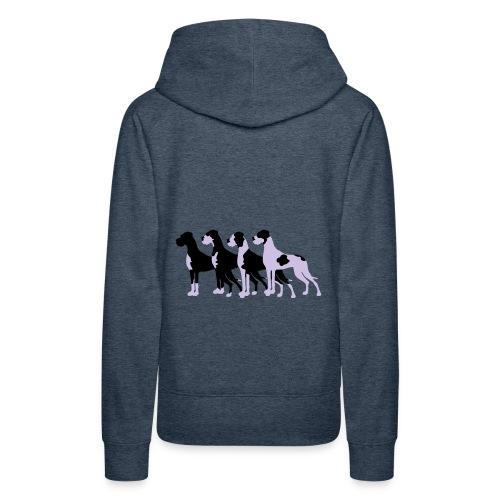Gefleckte Doggen - Frauen Premium Hoodie