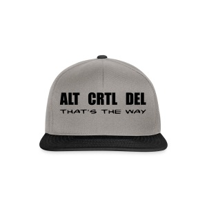 ALT CRTL DEL / THAT'S THE WAY - Snapback Cap